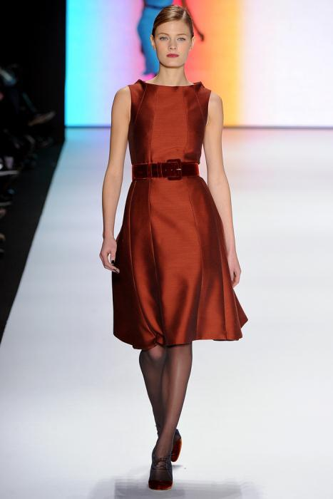 00260fullscreen1 - Carolina Herrera Φορέματα Συλλογή Φθινόπωρο Χειμώνας 2011 2012