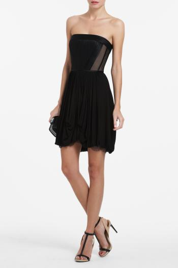 pBCBG1 11248501dt - BCBGMAXAZRIA Μαύρα φορέματα Φθινόπωρο Χειμώνας 2011 2012