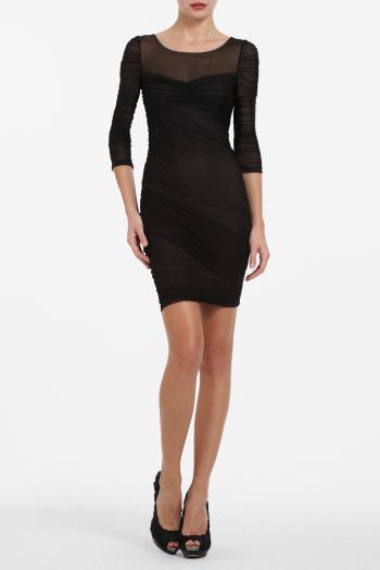 pBCBG1 8721377dt - BCBGMAXAZRIA Μαύρα φορέματα Φθινόπωρο Χειμώνας 2011 2012