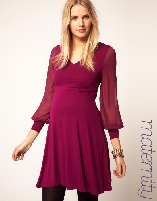 5 Θηλυκά και μοντέρνα φορέματα εγκυμοσύνης 2012 από το asos