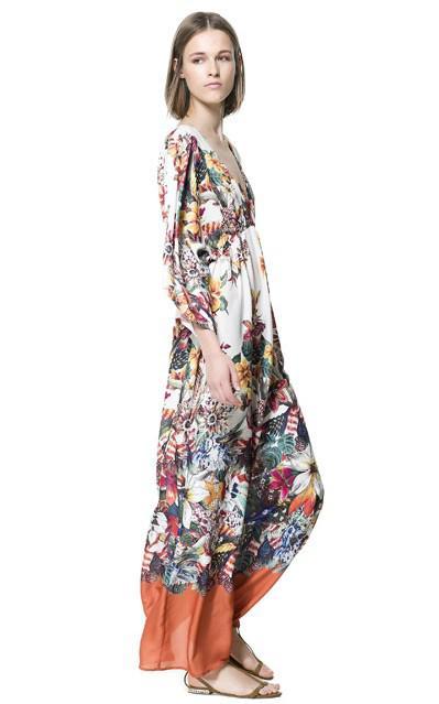 Zara Long Dresses Spring Summer 2013 collection 11 - Zara Μακριά Φορέματα collection Άνοιξη Καλοκαίρι 2013