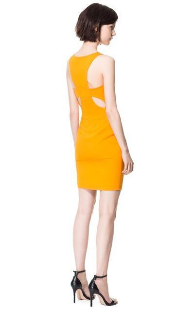 d35c5af7cd4a Zara Μονόχρωμα Φορέματα collection Άνοιξη Καλοκαίρι 2013