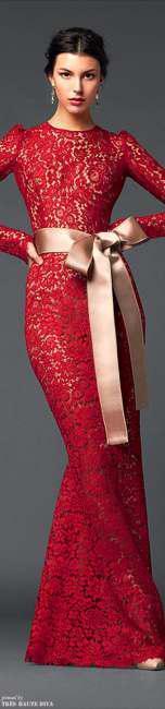 Wear lace dresses in winter (1)