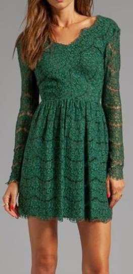 Wear lace dresses in winter (2)
