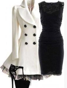 Wear lace dresses in winter (3)