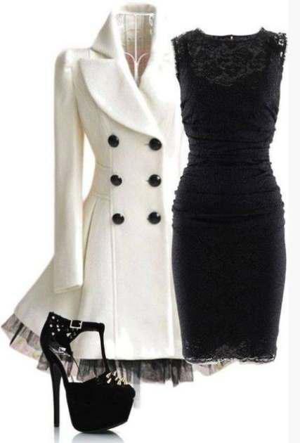 Wear lace dresses in winter 3 - Φορέστε δαντελένια φορέματα τον χειμώνα