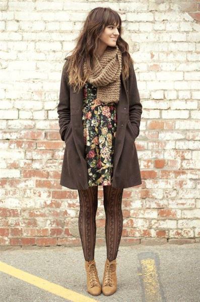 b1089e1b49c Πώς να φορέσετε χειμωνιάτικα floral φορέματα