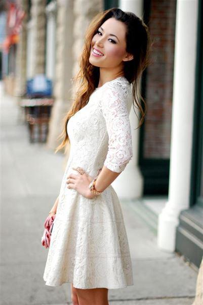 Κοντά λευκά φορέματα για βραδινές εξόδους 57d0f195501