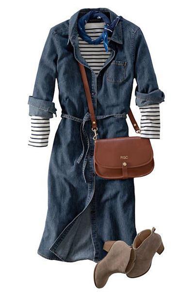 denim foremata 5 - 5 τρόποι για να φορέσετε denim φόρεμα τον χειμώνα