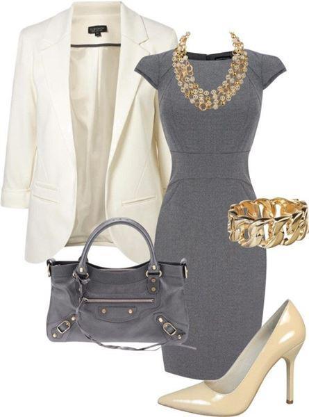 d0a1eea613ab Πώς να φορέσετε ένα γκρι φόρεμα