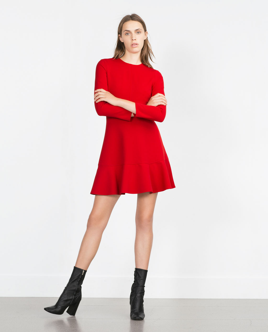 mini foremata zara fthinoporo chimonas 2015 - Mini φορέματα Zara Φθινόπωρο Χειμώνας 2015