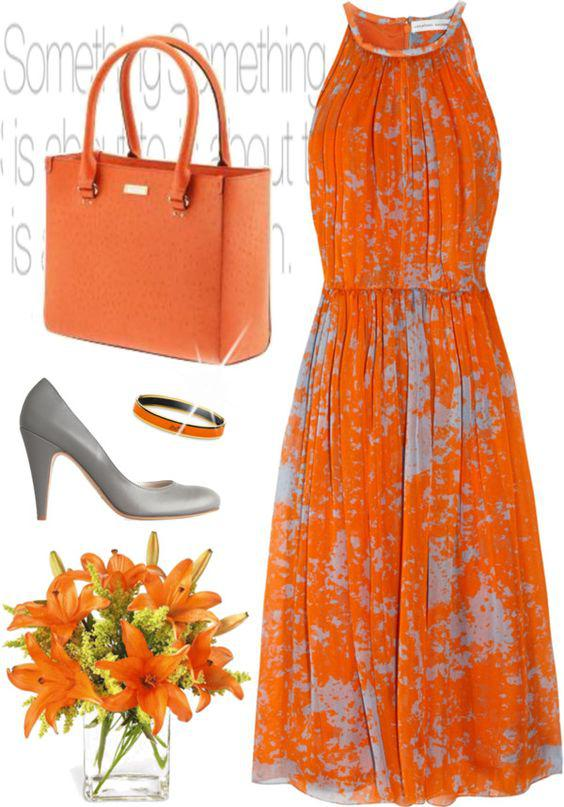 ta pio modata portokali foremata gia to kalokeri 1 - Τα πιο μοδάτα πορτοκαλί φορέματα για το καλοκαίρι