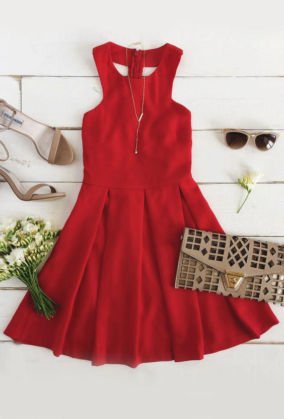 5 idees na foresis to konto kokkino forema gia oles tis peristasis - 5 ιδέες να φορέσεις το κοντό κόκκινο φόρεμα για όλες τις περιστάσεις