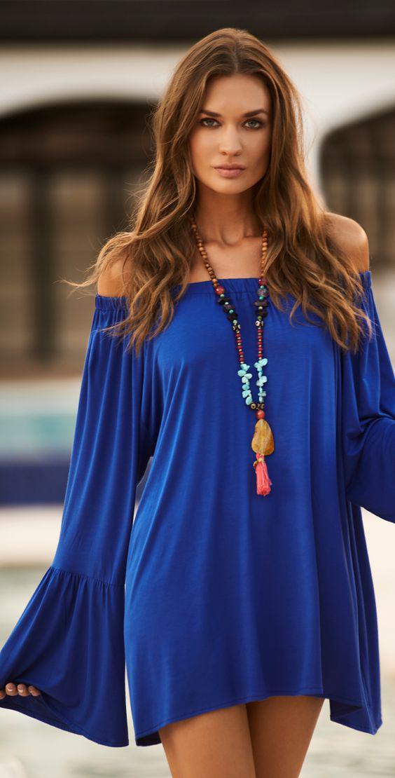 5 mple ilektrik foremata gia to kalokeri 4 - 5 μπλε ηλεκτρίκ φορέματα για το καλοκαίρι