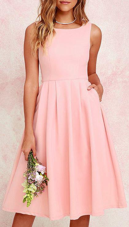 98787a74a71a Πώς θα βάλεις με στιλ ένα cocktail ροζ φόρεμα