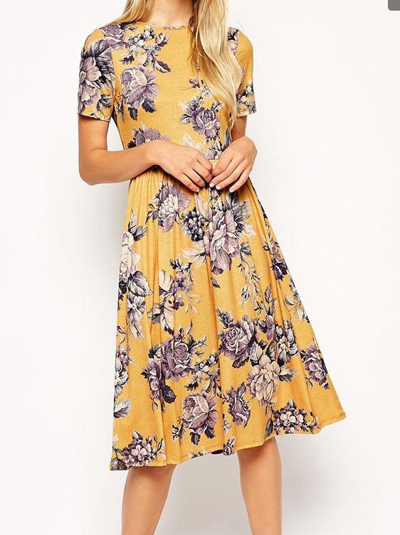 pos tha valo floral kitrino forema 3 - Πώς θα βάλω floral κίτρινο φόρεμα