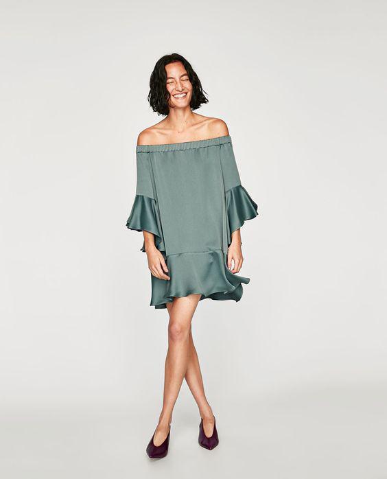81445c709018 Βραδινά φορέματα Zara pre-fall 2017